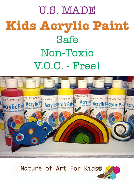 safe eco acrylic kids paints